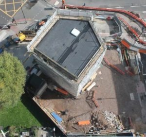 Bunhill Energy Centre - Vent Shaft works completed