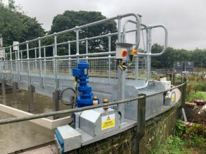 bridge scraper, scraper, water treatment, wastewater treatment, wastewater water treatment solutions, water technologies, engineering, colloide, colloide engineering, cookstown, northern ireland, haddington