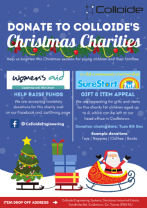 womens aid, Donation, colloide, colloide engineering, charity, Sure start, children, family, women