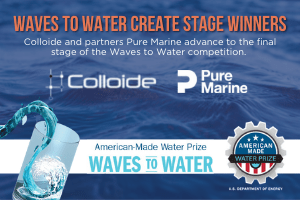 Waves to Water Competition, water treatment, water technologies, engineering, colloide, colloide engineering, cookstown, northern ireland, waves to water, sea potential, pure marine, desalination, desalination system, clean water, drinking water